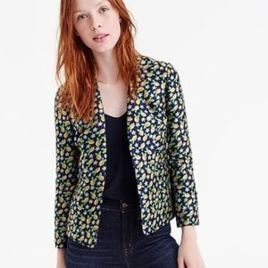 J. Crew Going Out Lemon Jacquard Blazer Size 12